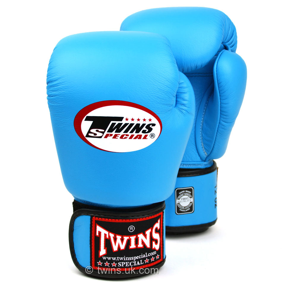 BGVL3 Twins Sky Blue Velcro Boxing Gloves