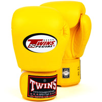 BGVL3 Twins Yellow Velcro Boxing Gloves