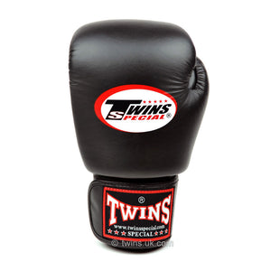 Twins Black Junior Velcro Boxing Gloves