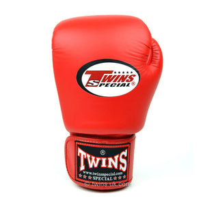Twins Red Junior Velcro Boxing Gloves