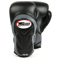 BGVL6 Twins Black-Grey Deluxe Sparring Gloves