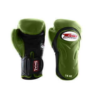 BGVL6 Twins Olive Green-Black Deluxe Sparring Gloves
