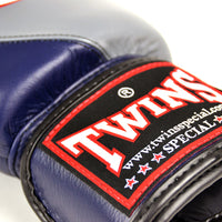 BGVL8 Twins Grey-Navy 2-Tone Boxing Gloves