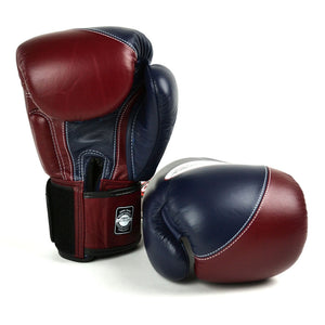 BGVL8 Twins Navy-Maroon 2-Tone Boxing Gloves