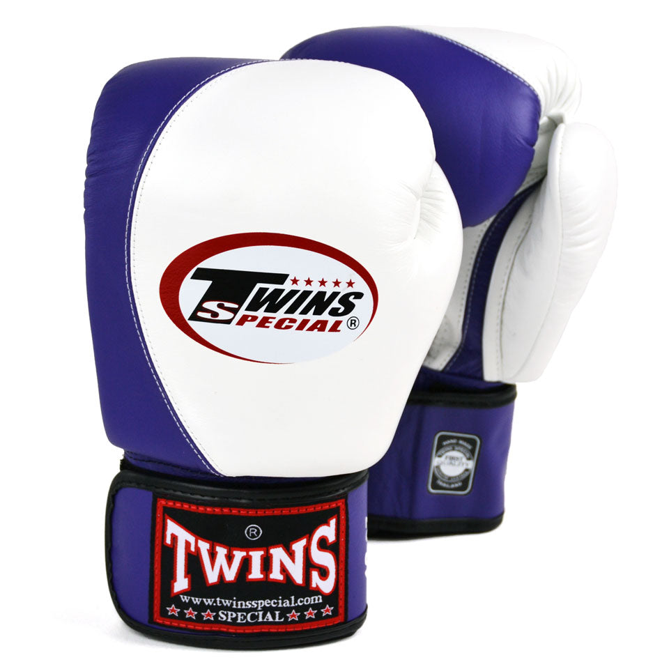 BGVL8 Twins White-Purple 2-Tone Boxing Gloves