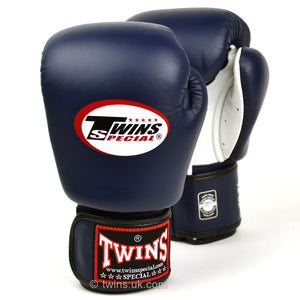 BGVLA2 Twins Air Flow Navy-White Boxing Gloves