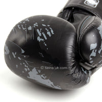 FBGVL3-36 Twins Black Tribal Dragon Boxing Gloves