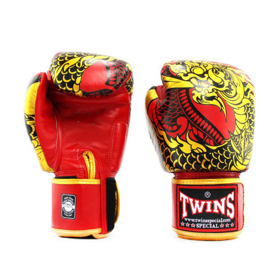 FBGVL3-52 Twins Red-Gold Nagas Boxing Gloves