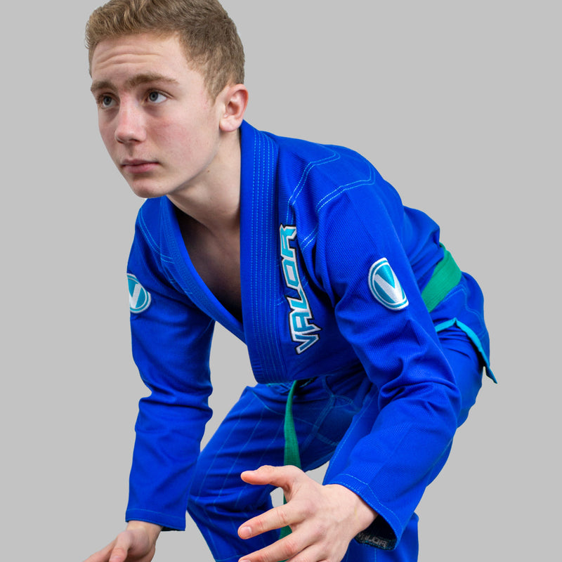 Copy of Kids Valor VLR Superlight BJJ GI Blue side