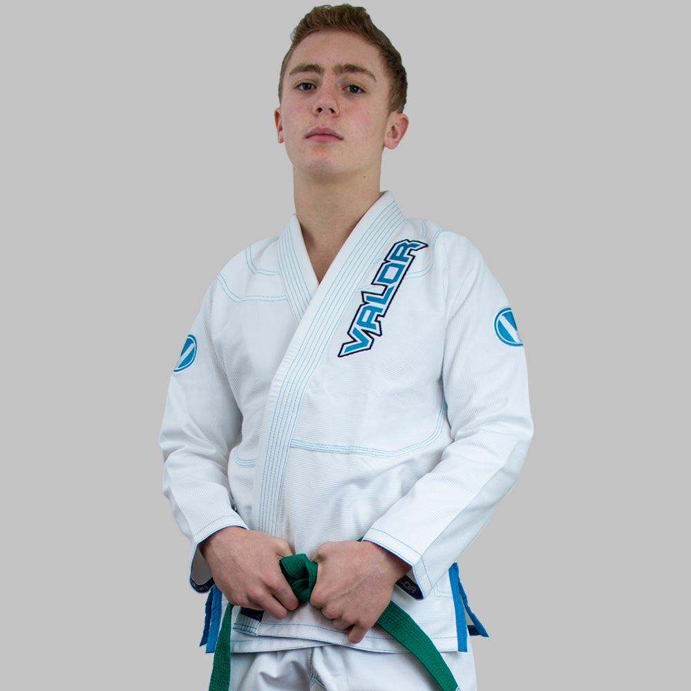 Kids Valor VLR Superlight BJJ GI White front