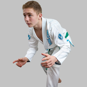 Kids Valor VLR Superlight BJJ GI White side