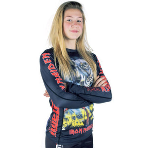 Ladies Tatami x Iron Maiden Number of the Beast Rash Guard