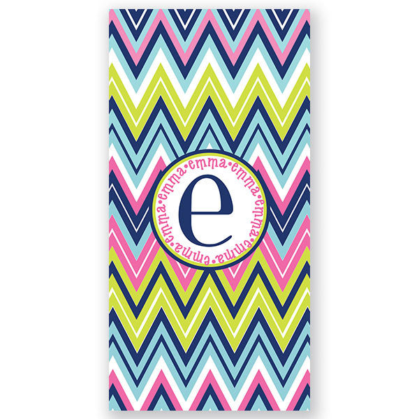 Personalized Beach Towel~Chevron