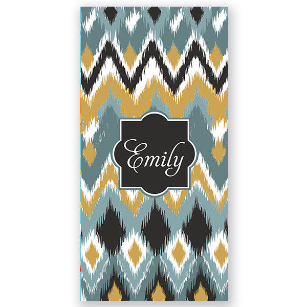 Personalized Beach Towel~Blue iKat