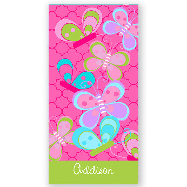 Personalized Beach Towel~Butterfly