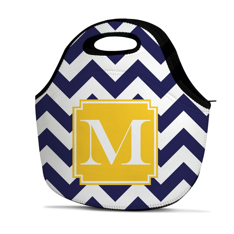 Monogrammed Lunch Bag - Chevron