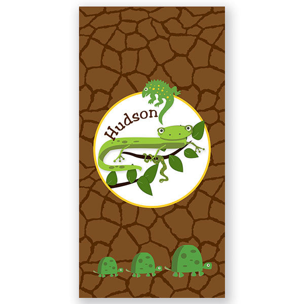 Personalized Beach Towel~Cool Reptiles - Bellalicious Boutique