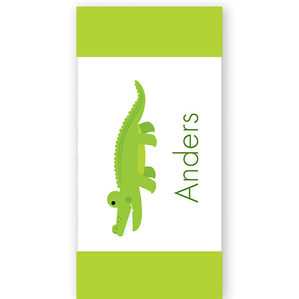 Personalized Beach Towel~Crocodile