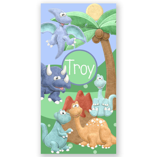 Personalized Beach Towel~Dinosaur - Bellalicious Boutique