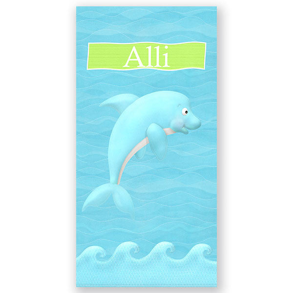 Personalized Beach Towel~Dolphin