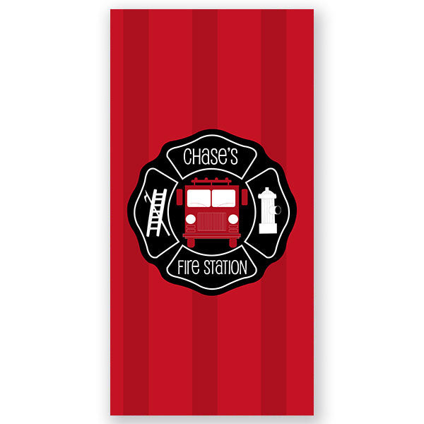 Personalized Beach Towel~Fireman - Bellalicious Boutique