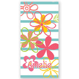 Personalized Beach Towel~Fresh Flowers - Bellalicious Boutique