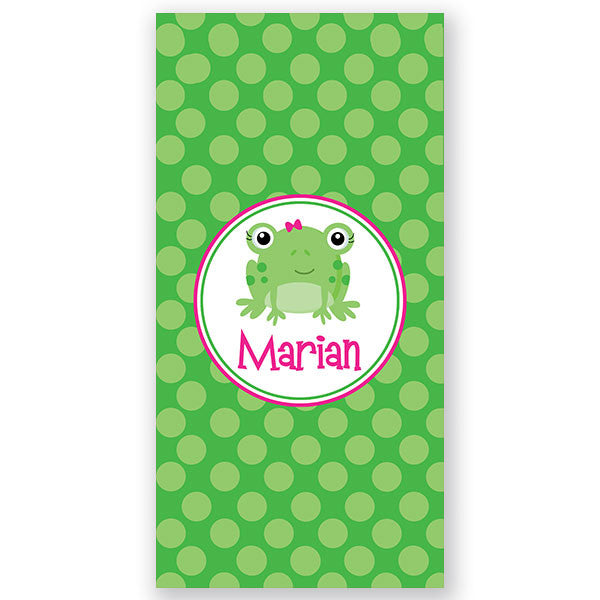 Personalized Beach Towel~Miss Frog - Bellalicious Boutique