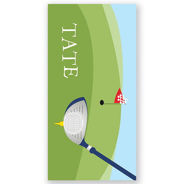 Personalized Beach Towel~Golf