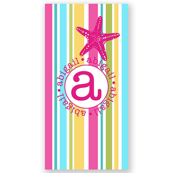 Personalized Beach Towel~Starfish