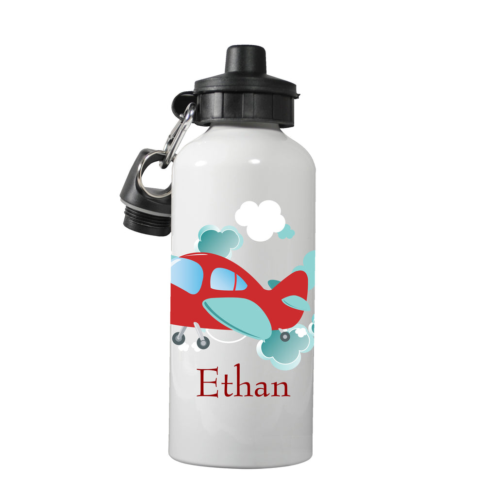 Personalized Kids Water Bottle ~ Airplane