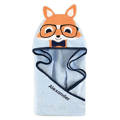 Monogrammed Hooded Bath Towel - Fox