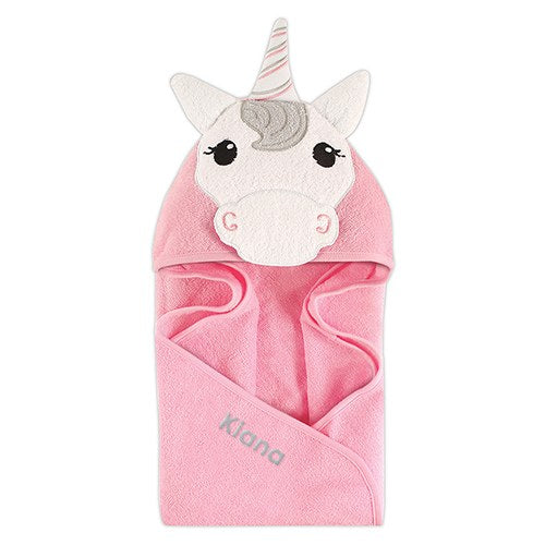 Monogrammed Hooded Bath Towel - Unicorn