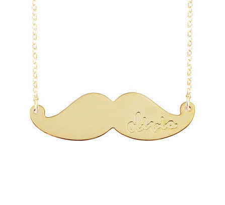 Personalized Mustache Necklace