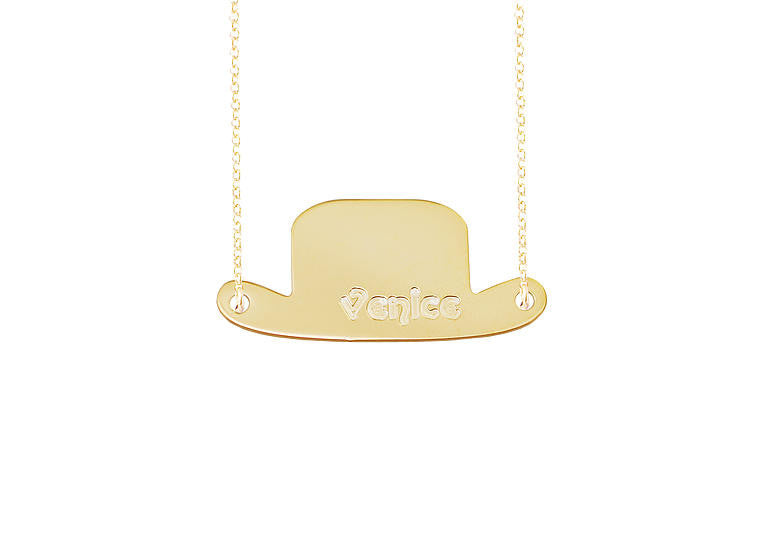 Personalized Top Hat Necklace