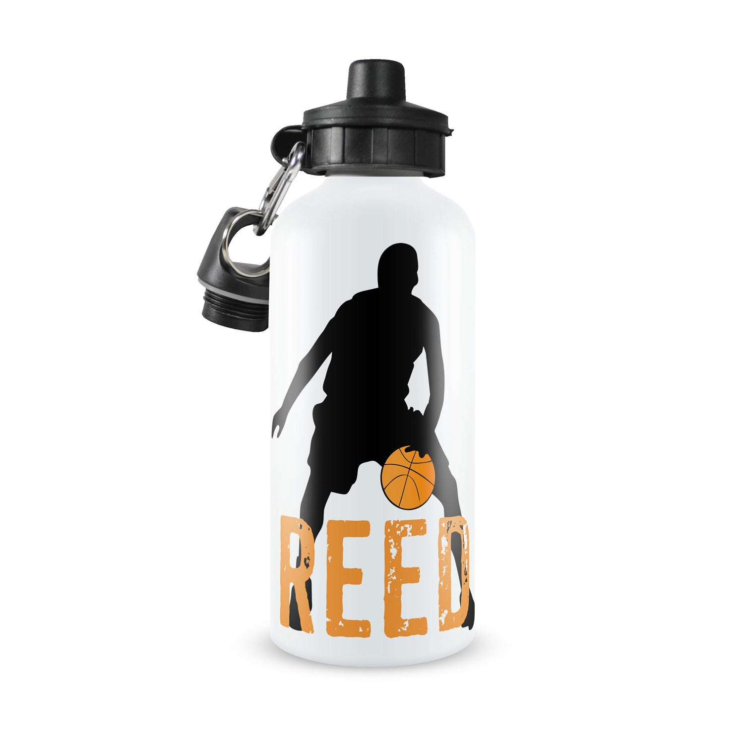 Personalized Kids Water Bottle ~ Basketball