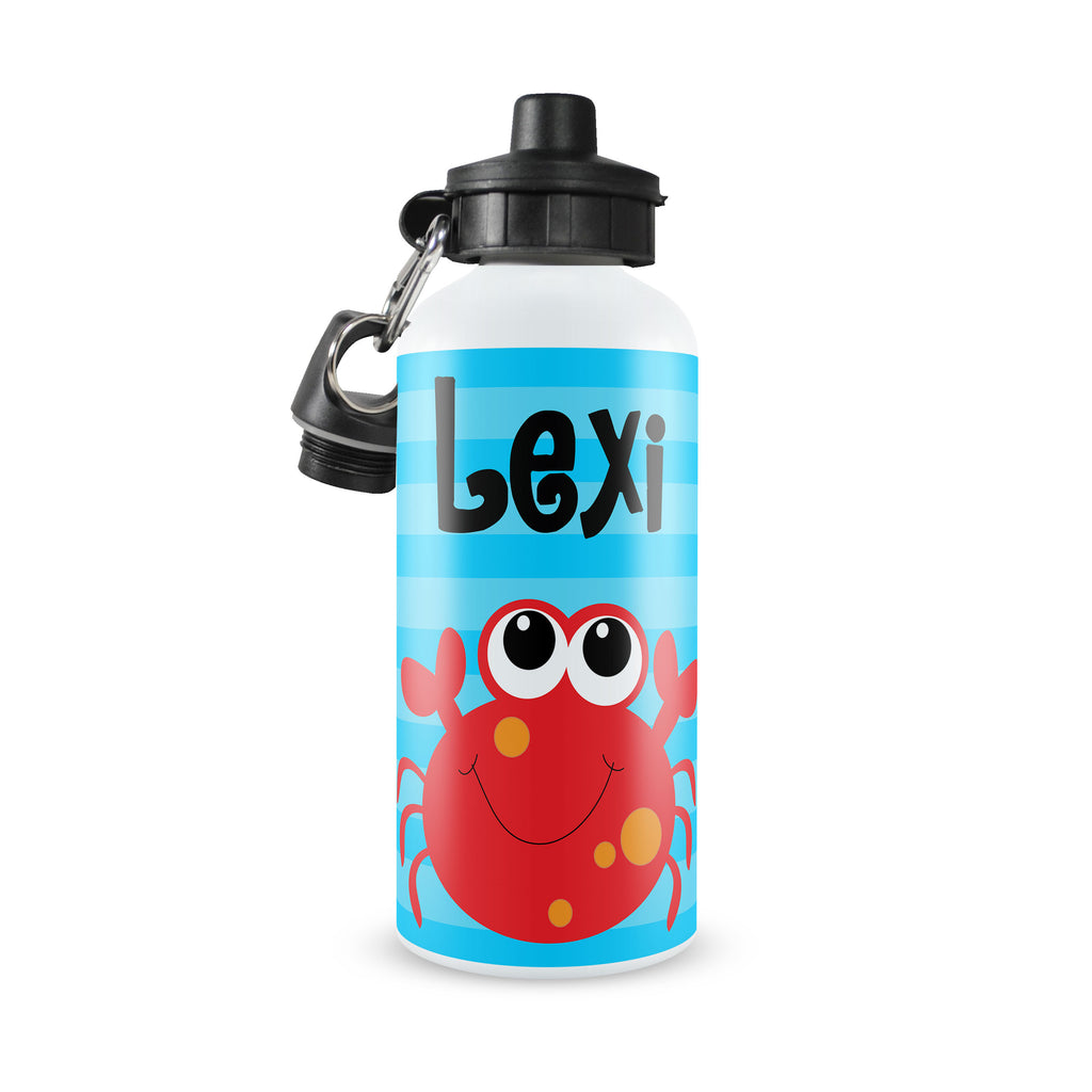 Personalized Kids Water Bottle ~ Crab