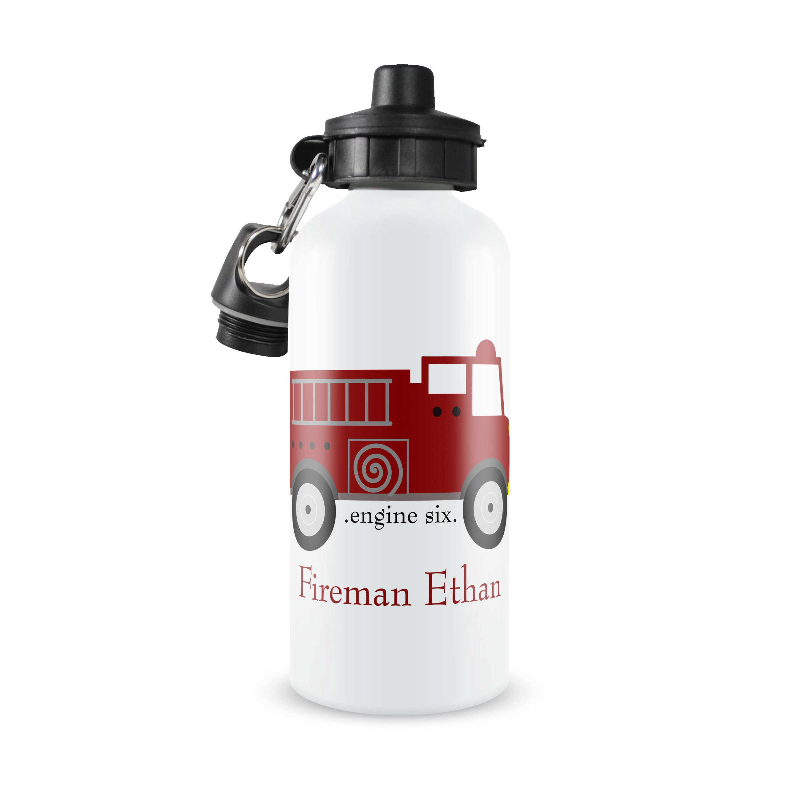 Personalized Kids Water Bottle ~ Firetruck