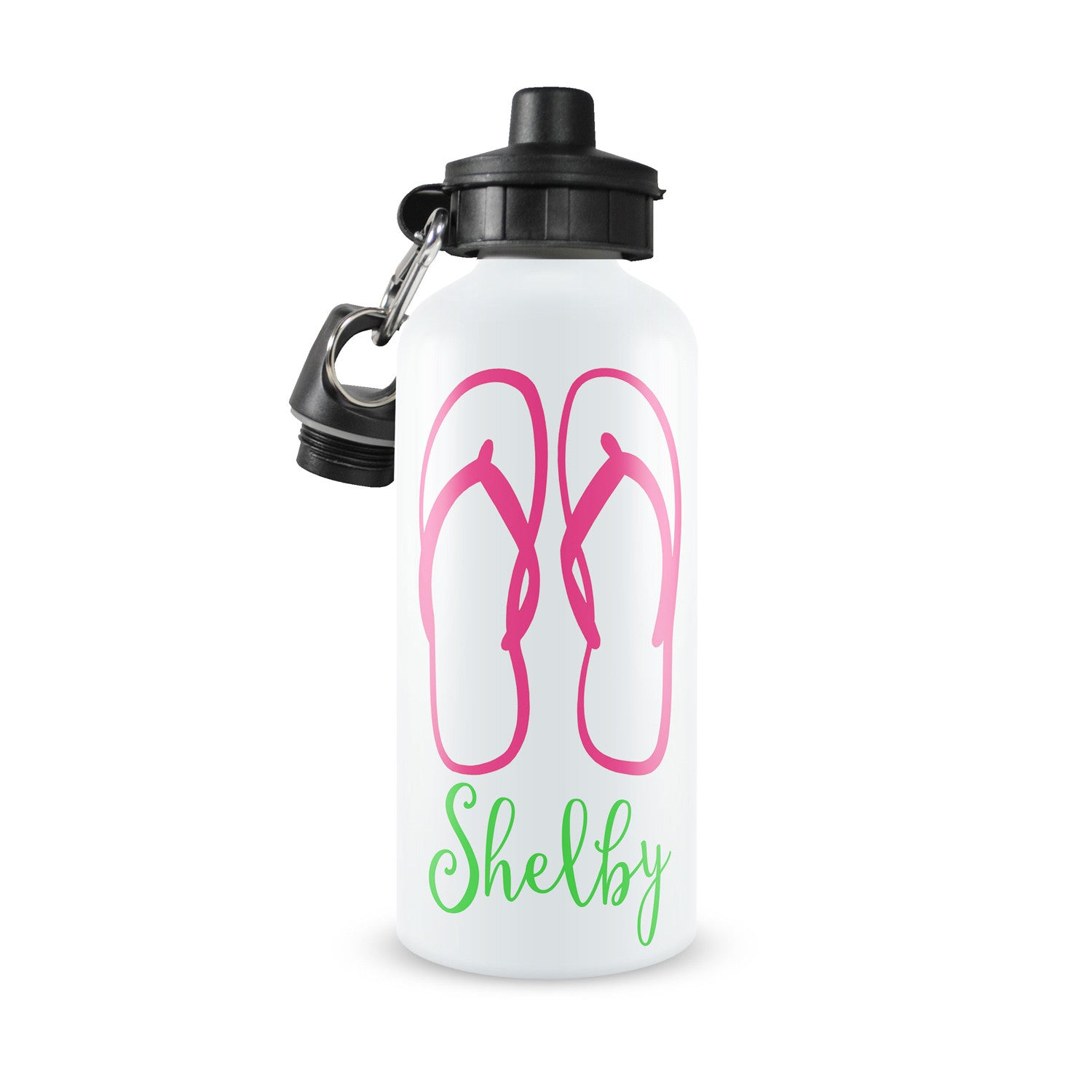 Personalized Kids Water Bottle ~ Flip Flops