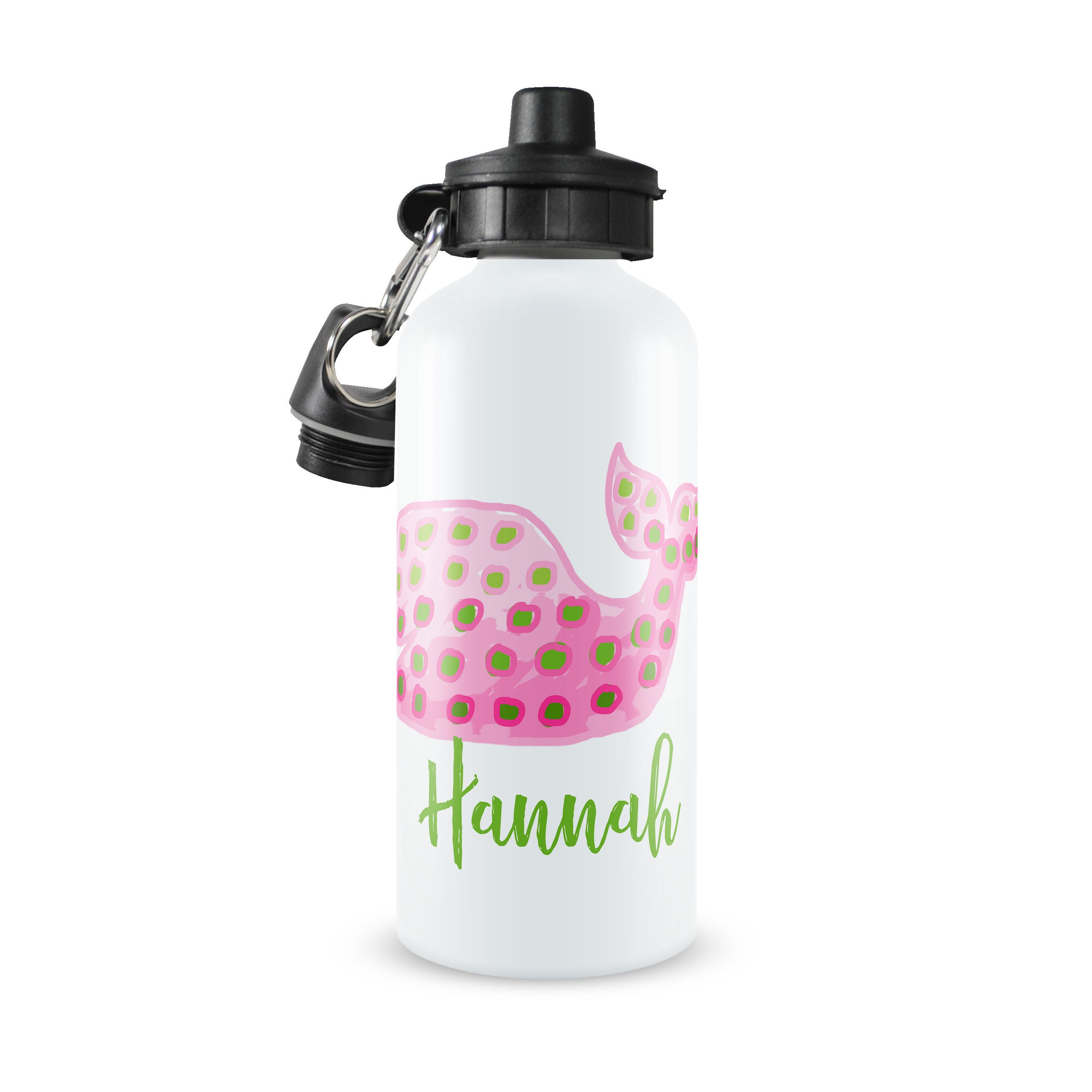Personalized Kids Water Bottle ~ Whale