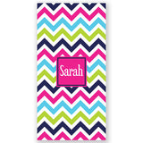 Personalized Beach Towel~Rainbow Brights Chevron - Bellalicious Boutique
