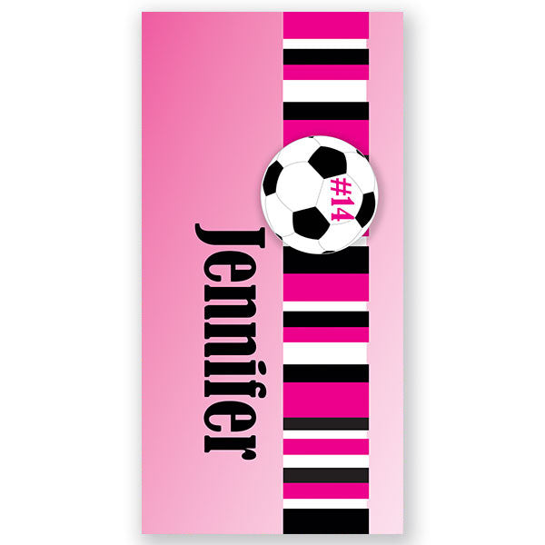 Personalized Beach Towel~Soccer Girl