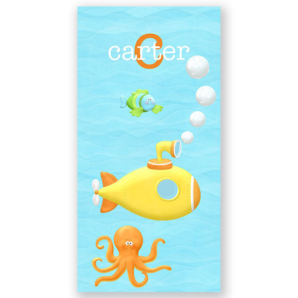 Personalized Beach Towel~Yellow Submarine - Bellalicious Boutique