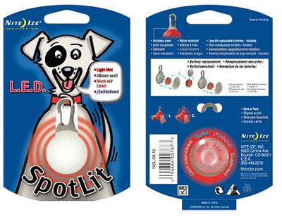 Nite Ize SpotLit LED Collar Light - Little Cherry