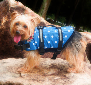 Blue Polka Life Jacket - Little Cherry
