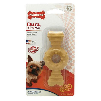 Nylabone DuraChew Textured Ring Bone (petite) - Little Cherry