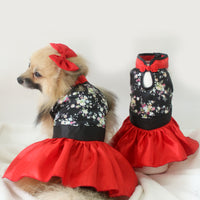 Origami Cheongsam in Black - Little Cherry