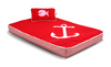 Red Anchor Fleece Orthopedic Bed - Little Cherry