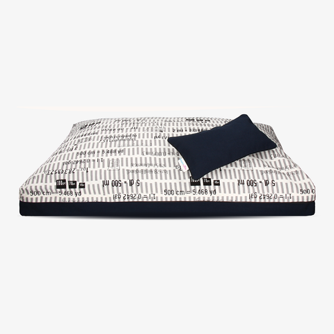 Ecliptic Equation | For monochrome lover hypoallergenic natural dog bed cover from DreamCastle - DreamCastle Natural Dog Bed