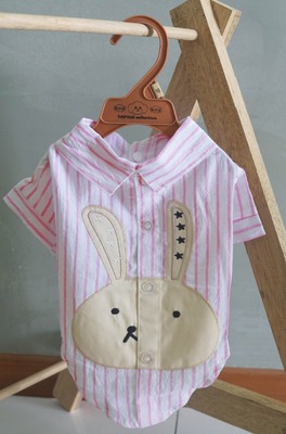 Bunnie Shirt in Pink - Little Cherry