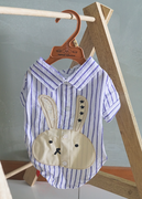 Bunnie Shirt in Blue - Little Cherry